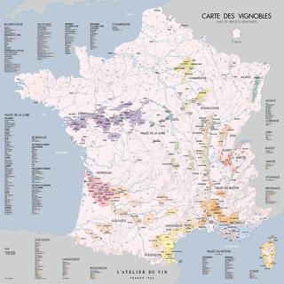 carte des vignobles de france Carte des vignobles de France | L'Atelier du Vin