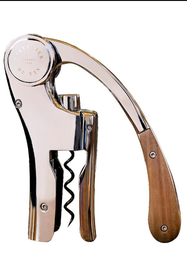 Tire-bouchon à levier Oeno Motion Wood & Chrome
